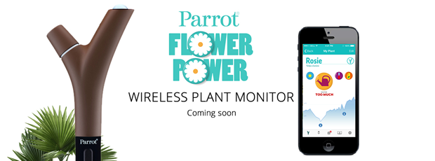 power flower parrot domotique